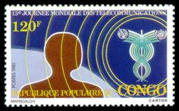 Congo Brazzaville, 1981, World Telecommunication Day, ITU, United Nations, MNH, Michel 818 - Congo - Brazzaville