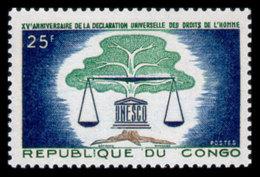 Congo Brazzaville, 1963, Human Rights Declaration, United Nations, MNH, Michel 38 - Congo - Brazzaville