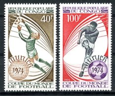 Congo Brazzaville, 1973, Soccer World Cup Germany, Football, MNH, Michel 405-406 - Congo - Brazzaville