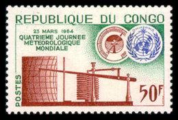 Congo Brazzaville, 1964, World Meteorological Day, WMO, United Nations, MNH, Michel 42 - Congo - Brazzaville