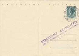 INTERO POSTALE 1954 DIREZIONE ARTIGLIERIA-TIMBRO LUGO RAVENNA (EX839 - 6. 1946-.. Repubblica