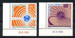 Congo Brazzaville, 1963, Space, Telecommunication, MNH, Michel 30-31 - Congo - Brazzaville