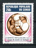 Congo Brazzaville, 1974, Soccer World Cup Germany, Football, MNH, Michel 416 - Congo - Brazzaville