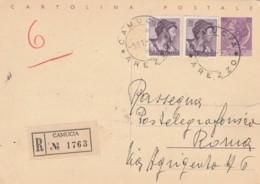 RACCOMANDATA INTERO 25+2X30 TIMBRO CAMUCCIOA AREZZO 1965 (EX840 - 6. 1946-.. Repubblica