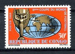 Congo Brazzaville, 1966, Soccer World Cup England, Football, MNH, Michel 95 - Congo - Brazzaville