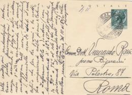 INTERO POSTALE L.20 1956  TIMBRO ACIREALE (EX842 - 6. 1946-.. Repubblica