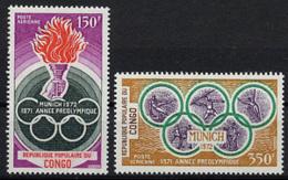Congo Brazzaville, 1971, Olympic Summer Games Munich, Sports, MNH, Michel 312-313 - Congo - Brazzaville