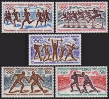 Congo Brazzaville, 1971, Olympic Summer Games, Sports, MNH, Michel 318-322 - Congo - Brazzaville