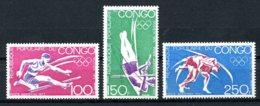 Congo Brazzaville, 1973, Olympic Summer Games Munich, Hurdles, Pole Vault, Wrestling, MNH, Michel 357-359 - Congo - Brazzaville