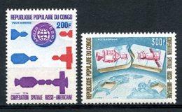 Congo Brazzaville, 1974, Space, Soyuz, Apollo, MNH, Michel 417-418 - Congo - Brazzaville