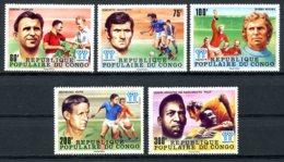 Congo Brazzaville, 1978, Soccer World Cup Argentina, Football, MNH, Michel 614-618 - Congo - Brazzaville