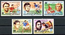 Congo Brazzaville, 1978, Soccer World Cup Argentina, Football, MNH Silver Overprint, Michel 662-666 - Congo - Brazzaville