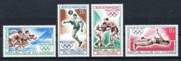 Congo Brazzaville, 1968, Olympic Summer Games Mexico, Sports, MNH, Michel 167-170 - Congo - Brazzaville