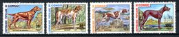 Congo Brazzaville, 1974, Dogs, Animals, Fauna, MNH, Michel 441-444 - Congo - Brazzaville