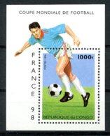 Congo Brazzaville, 1996, Soccer World Cup France, Football, MNH, Michel Block 128 - Congo - Brazzaville