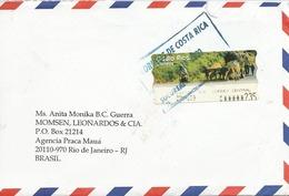 LSJP COSTA RICA COVER LABEL 2009 - Costa Rica