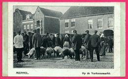 Meppel - Op De Varkensmarkt - Marché - Paysan - Cochon - ** Apparemment Carte Contrecollée - Fabrication Maison ** - Meppel