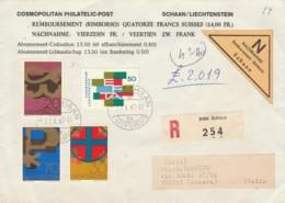 RACCOMANDATA LIECHTENSTEIN 1967 SCHAAN ARRIVO SESTRI PONENTE (EX876 - 1840-1901 (Regina Victoria)