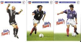 EQUIPE DE FRANCE FOOTBALL 1998 - PIRES DJORKAEFF GUIVARCH THURAM LIZARAZUDUGARRY BARTHEZ - COUPE MONDE WORLD CUP 98 - Football