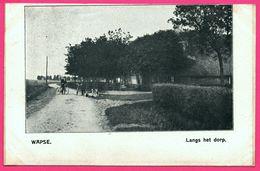 Wapse - Langs Het Dorp - Bicyclette - Animée - ** Apparemment Carte Contrecollée - Fabrication Maison ** - Nederland