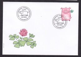 1.- SWITZERLAND 2019 FDC LUCKY PIG - FDC