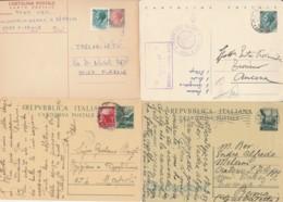 LOTTO 4 INTERI POSTALI VIAGGIATI (EX910 - 6. 1946-.. Repubblica