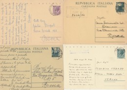 LOTTO 4 INTERI POSTALI VIAGGIATI (EX911 - 6. 1946-.. Repubblica