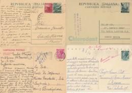 LOTTO 4 INTERI POSTALI VIAGGIATI (EX912 - 6. 1946-.. Repubblica