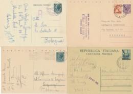 LOTTO 4 INTERI POSTALI VIAGGIATI (EX913 - 6. 1946-.. Repubblica