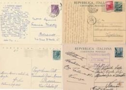 LOTTO 4 INTERI POSTALI VIAGGIATI (EX914 - 6. 1946-.. Repubblica