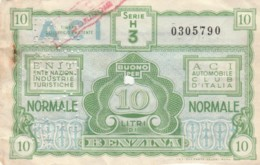 BUONO BENZINA ENIT ACI -SEGNI DEL TEMPO (EX917 - Italia