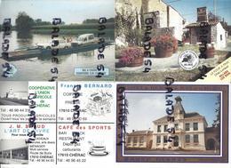 3 Calendriers - BURIE (17) De L'Office De Tourisme (mairie De CHERAC 1994, Bac à Chaine Dompierre 1997, Four à Pain 1998 - Petit Format : 1991-00