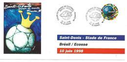 COUPE DU MONDE FOOTBALL FRANCE 1998 - WORLD CUP 98 SAINT DENIS - BRESIL ECOSSE MATCH OUVERTURE10 JUIN 1998 - Football