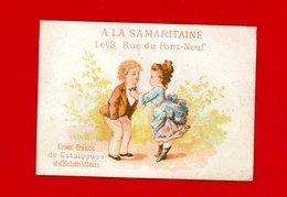Magasin De La Samaritaine, Jolie Chromo Lith. Dangivillé, Jeune Fille Arrangeant Le Noeud Papillon De Son Amoureux - Autres