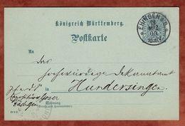 DP 32/04 Ziffer, Hds In Ermangelung Eines Dienstsiegels Daechingen, Ehingen Nach Hundersingen 1904 (71085) - Wuerttemberg