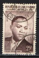 COSTA D'AVORIO - 1959 - PRESIDENTE FELIX HOUPHOUET-BIGNY  - PROCLAMAZIONE DELLA REPUBBLICA - USATO - Costa D'Avorio (1960-...)