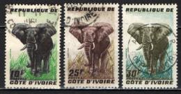 COSTA D'AVORIO - 1959 - SERIE ELEFANTI - USATI - Costa D'Avorio (1960-...)