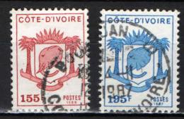 COSTA D'AVORIO - 1986 - STEMMA DELLA COSTA D'AVORIO - ELEFANTE - USATI - Costa D'Avorio (1960-...)