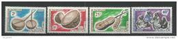 "Mauritanie YT 188 à 191 "" Instruments Musique "" 1965 Neuf** - Mauritanie (1960-...)"