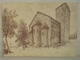 CARMIGNANO Abbazia S.Giusto Disegno Gastone Canessa (Firenze) Cartolina Non Viaggiata - Other Cities