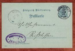 DP 3/02 Ziffer, Ehingen Nach Rissstetten 1904 (71087) - Wuerttemberg