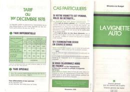 Dépliant Explicatif De La Vignette Automobile En 1978, 4 Volets, Taxe, Véhicule, Tarifs, - Voitures