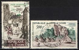 COSTA D'AVORIO - 1962 - VEDUTA DI ODIENNE E REGIONE DI MAN - USATI - Costa D'Avorio (1960-...)