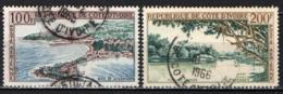 COSTA D'AVORIO - 1963 - PAESAGGI: BAIA DI SASSANDRA - FIUME DI COMOR - USATI - Costa De Marfil (1960-...)