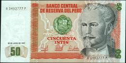 PERU - 50 Intis 26.06.1987 UNC P.131 B - Peru