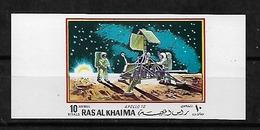 #C123A# RAS AL KHAIMA MICHEL BL A95B MNH**, COLOR PROOF. ONLY 50 ISSUED. SPACE. - Ras Al-Khaima