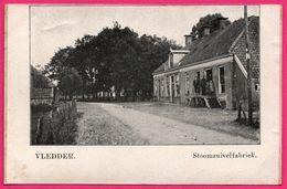 Vledder - Stoomzuivelfabriek - Animée - ** Apparemment Carte Contrecollée - Fabrication Maison ** - Nederland