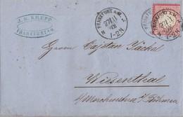 DR Brief EF Minr.9 Frankfurt 27.11.72 Gel. Nach K1 Wiesenthal - Deutschland