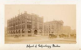 Small Albumen Photograph - USA School Of Technology, Boston - 19th Century (17.5 X10cm) - Antiche (ante 1900)