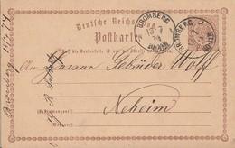 DR Ganzsache Aptierter K1 Bromberg 13.7.74 Gel. Nach Neheim - Deutschland